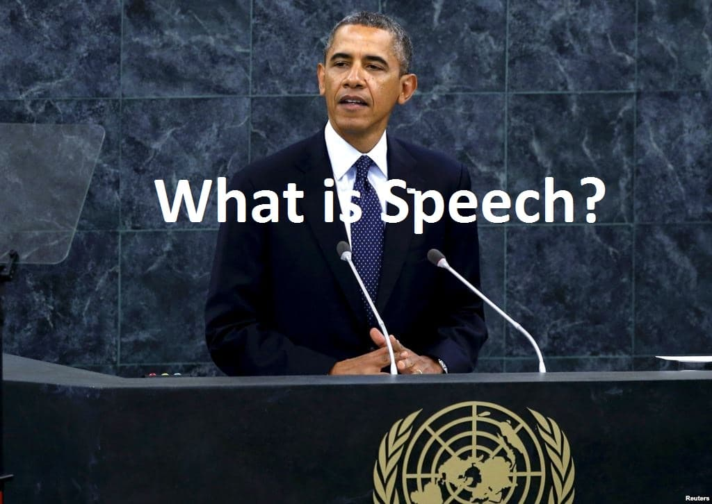 What is Speech