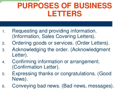 The Business Communication Purposes of Business Letter