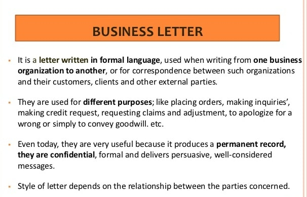 Meaning of Commercial Letter